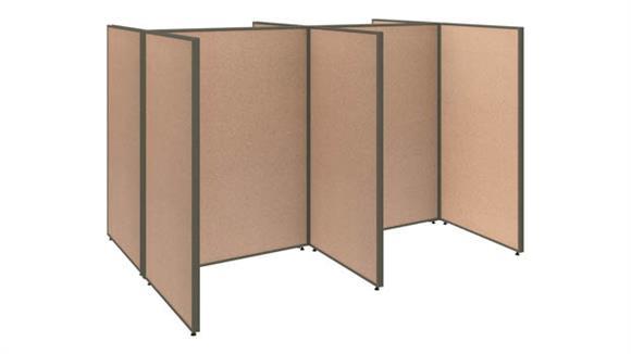 Office Panels & Partitions Bush 4 Person Open Cubicle Office Panels