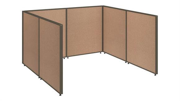 """Office Panels & Partitions Bush 72""""W x 72""""D x 42""""H Open Cubicle Configuration"""