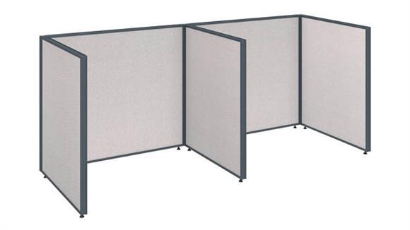 """Office Panels & Partitions Bush 96""""W x 36""""D x 42""""H 2 Person Open Cubicle Configuration"""
