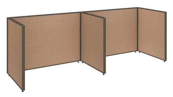 """Office Panels & Partitions Bush 120""""W x 36""""D x 42""""H 2 Person Open Cubicle Configuration"""