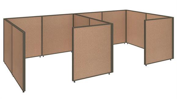 """Office Panels & Partitions Bush 144""""W x 72""""D x 42""""H 2 Person Closed Cubicle Configuration"""