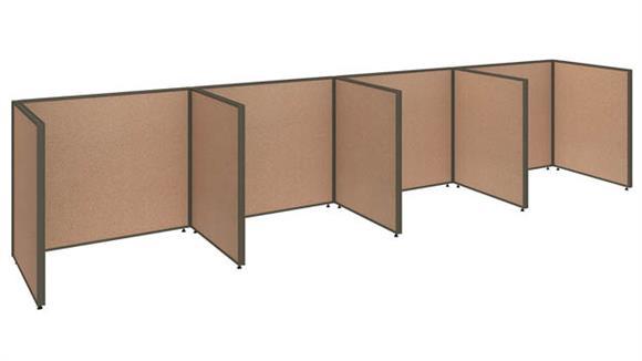 """Office Panels & Partitions Bush 192""""W x 36""""D x 42""""H 4 Person Open Cubicle Configuration"""