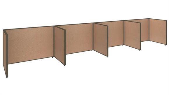 """Office Panels & Partitions Bush 240""""W x 36""""D x 42""""H 4 Person Open Cubicle Configuration"""