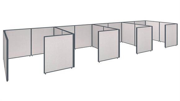"""Workstations & Cubicles Bush 288""""W x 72""""D x 42""""H 4 Person Closed Cubicle Configuration"""