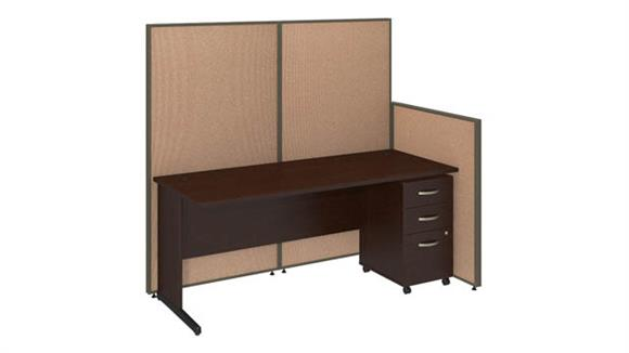 """Workstations & Cubicles Bush 72""""W C-Leg Desk and 3 Drawer Mobile Pedestal with ProPanels"""