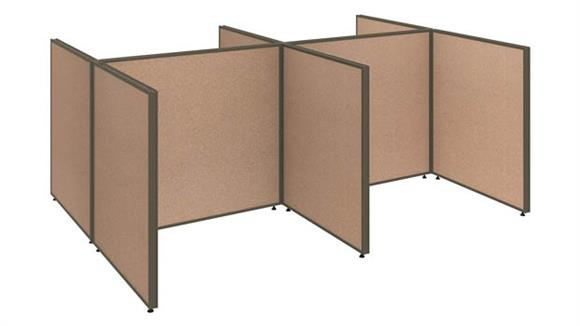 """Workstations & Cubicles Bush 96""""W 4 Person Open Cubicle Configuration"""