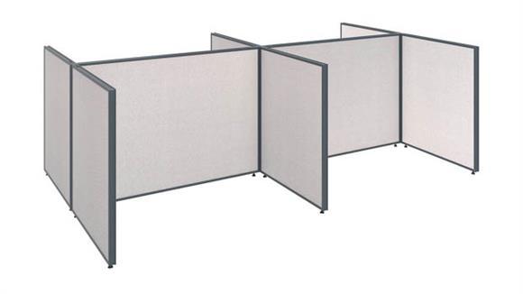 """Workstations & Cubicles Bush 120""""W 4 Person Open Cubicle Configuration"""