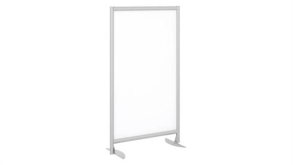 Privacy Screens Bush Freestanding White Board Privacy Panel with Stationary Base