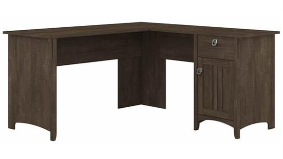 "L Shaped Desks Bush 60""W L-Shaped Desk with Storage"