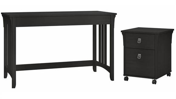 """Writing Desks Bush 48""""W Writing Desk with 2 Drawer Mobile File Cabinet"""