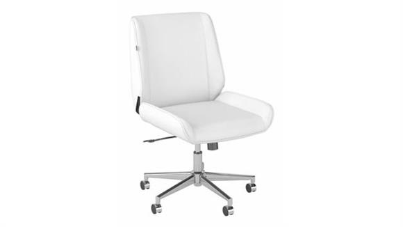 Office Chairs Bush Wingback Leather Office Chair