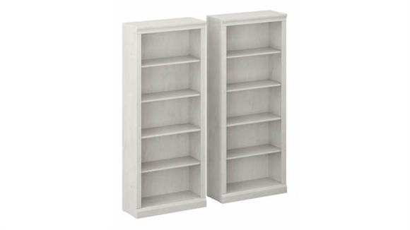 Bookcases Bush Tall 5 Shelf Bookcases (Set of 2)