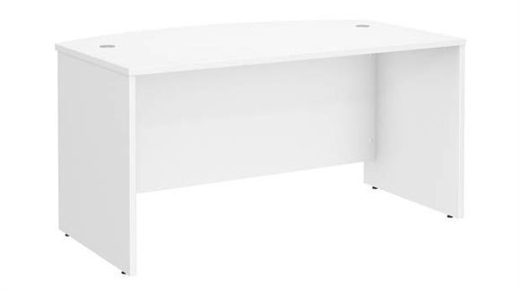 """Executive Desks Bush 60""""W x 36""""D Bow Front Desk"""