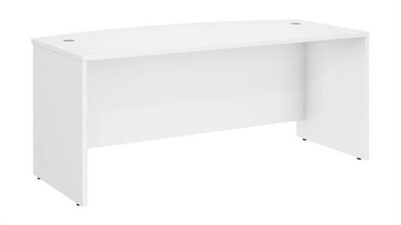 """Executive Desks Bush 72""""W x 36""""D Bow Front Desk"""