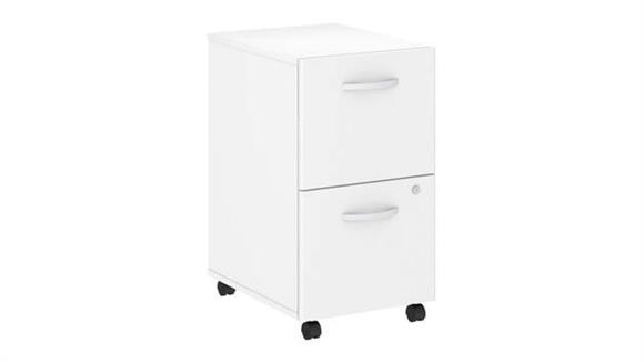 Mobile File Cabinets Bush 2 Drawer Mobile File Cabinet - Assembled