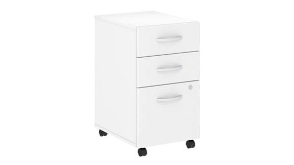 File Cabinets Vertical Bush 3 Drawer Mobile File Cabinet