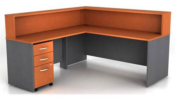 Reception Desks Bush L Shaped Reception Desk
