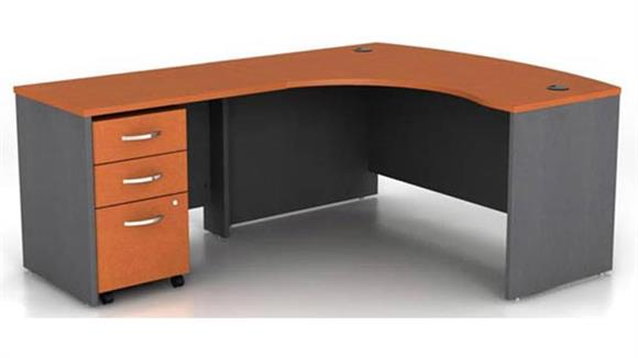 L Shaped Desks Bush Bow Front L Shaped Desk