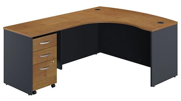 L Shaped Desks Bush L Shaped Desk with 3 Drawer File