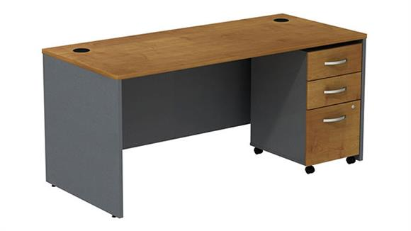 Executive Desks Bush Managers Desk with 3 Drawer File