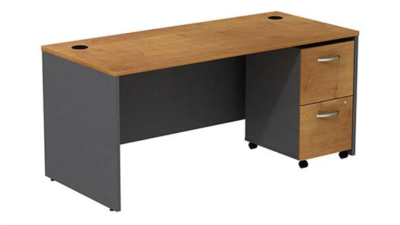 Executive Desks Bush Managers Desk with 2 Drawer File
