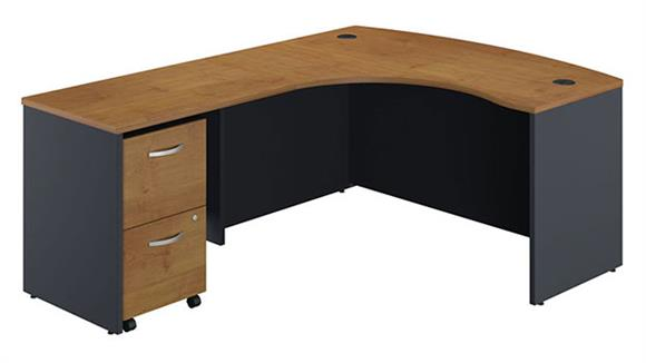 L Shaped Desks Bush L Shaped Desk with 2 Drawer File