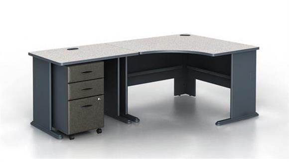 Modular Desks Bush Modular Corner Desk with Pedestal
