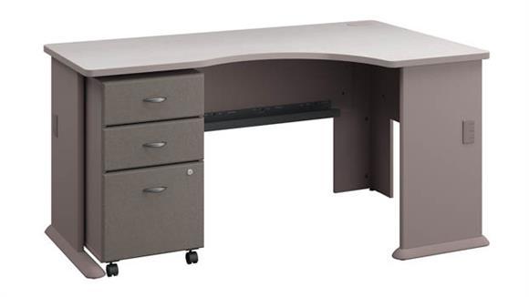 Corner Desks Bush Right Corner Desk with Mobile File Cabinet