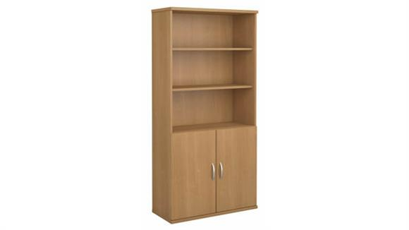 """Bookcases Bush 36""""W 5 Shelf Bookcase with Doors"""