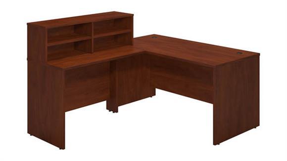 """Reception Desks Bush 60""""W x 72""""D Reception L Desk"""