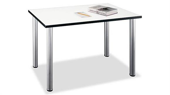 Conference Tables Bush White Spectrum Rectangular Conference Table