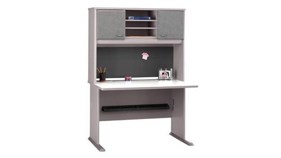 "Modular Desks Bush 48"" Desk with Hutch"
