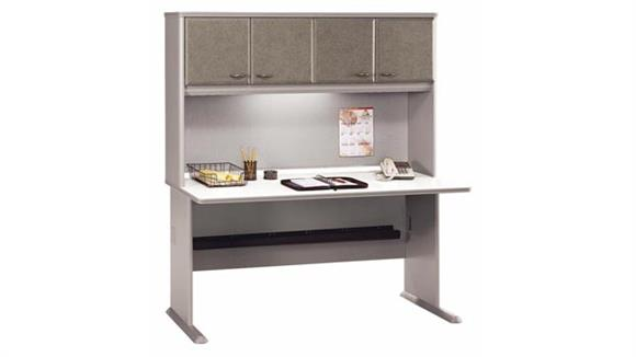 "Modular Desks Bush 60"" Desk with Hutch"