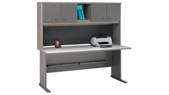 "Modular Desks Bush 72"" Desk with Hutch"