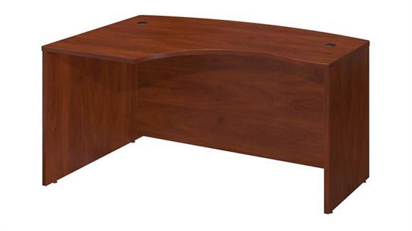 """Executive Desks Bush 60""""W x 43""""D Left Hand L-Bow Desk Shell"""