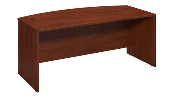 """Executive Desks Bush 72""""W x 36""""D Bowfront Desk Shell"""