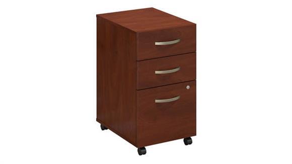 Mobile File Cabinets Bush 3 Drawer Mobile Pedestal - Assembled