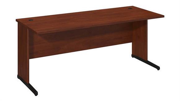"""Executive Desks Bush 72""""W x 30""""D C-Leg Desk"""