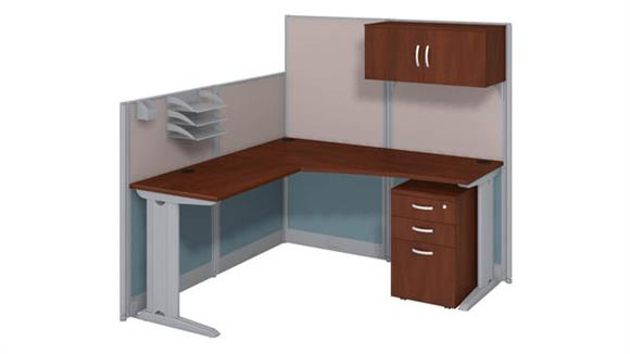 Workstations & Cubicles Bush L Workstation with Storage