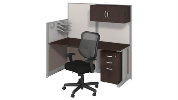 Workstations & Cubicles Bush Workstation with Storage & Chair