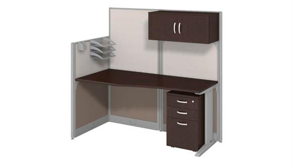 Workstations & Cubicles Bush Workstation with Storage