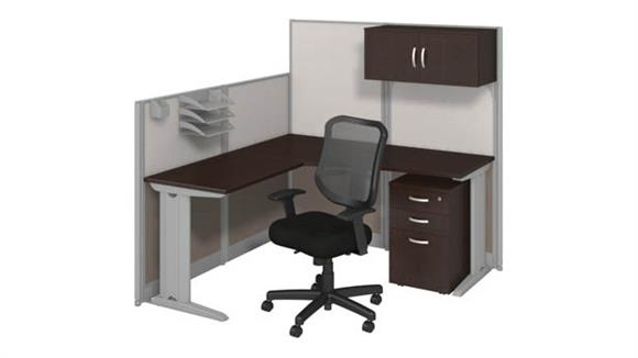 Workstations & Cubicles Bush L Workstation with Storage & Chair