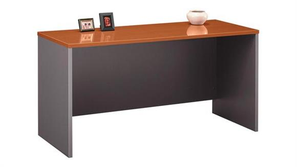 "Executive Desks Bush 60""W x 24""D Desk/Credenza/Return"