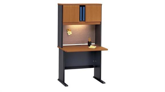 "Modular Desks Bush 36"" Desk with Hutch"