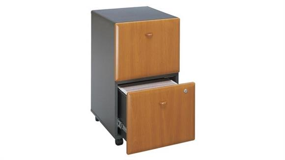 Mobile File Cabinets Bush 2 Drawer Mobile File - Fully Assembled