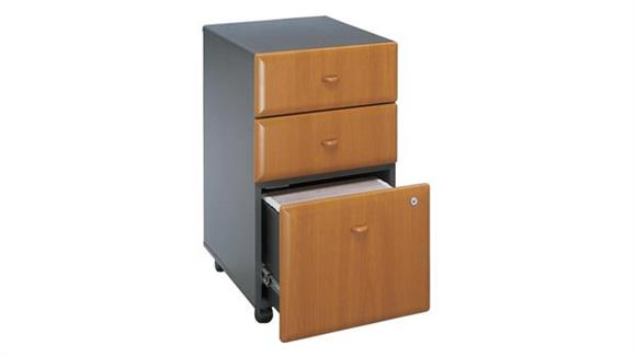 Mobile File Cabinets Bush 3 Drawer Mobile File - Fully Assembled