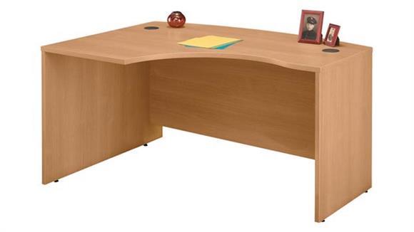 """Executive Desks Bush 60"""" W x 43"""" D Left Handed L-Bow Desk"""