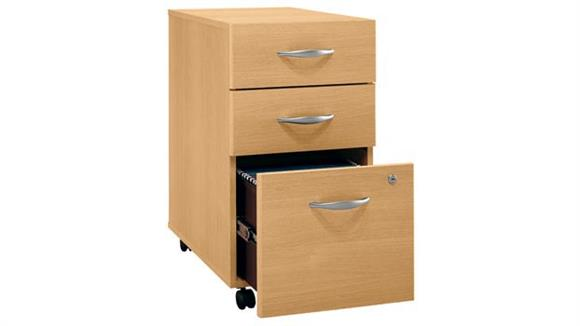 Mobile File Cabinets Bush 3 Drawer Mobile Vertical File - Fully Assmbled