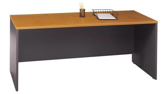 "Executive Desks Bush 72""W x 24""D Desk/Credenza/Return"