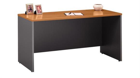"Executive Desks Bush 60""W x 24""D Desk/Credenza/Return"